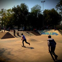Photo taken at Skatepark Parque O'Higgins by Emilio C. on 4/27/2013