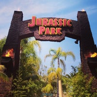 Photo taken at Jurassic Park: The Ride by Bryan C. on 6/1/2013