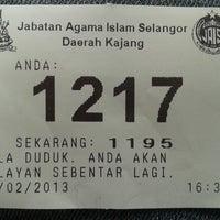 2/13/2013 tarihinde aris r.ziyaretçi tarafından Pejabat Agama Islam Daerah Hulu Langat'de çekilen fotoğraf