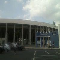 Photo taken at Estádio Doutor Adhemar Pereira de Barros (Arena da Fonte) by Natali G. on 11/4/2012