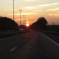 Photo taken at Velaine-sur-Sambre by Fabian B. on 3/8/2014