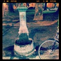 Photo taken at Piazza Tito Lucrezio Caro by Gaia G. on 9/8/2013