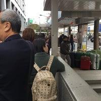 Photo taken at Bus Stop 24 - Shinjuku Sta. West Exit by ELNINO エ. on 3/25/2016