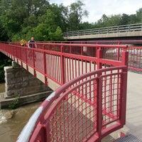 Photo taken at White River Monon Bridge by Michael &. on 6/2/2013