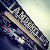 Photo taken at Lambert's Cafe by Paul P. on 3/9/2013