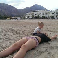 Photo taken at Beach Scarcella by Dmitry S. on 10/4/2013