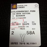Photo taken at Thai smile check in by Leela P. on 4/6/2014