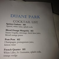 Photo taken at Duane Park Restaurant & Lounge by Robyn G. on 4/22/2012