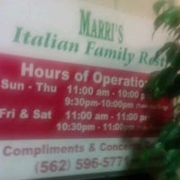 Photo taken at Marri's Pizza by Christopher N. on 8/17/2012