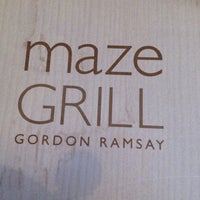Photo taken at Maze Grill by .na.na. . on 10/20/2012