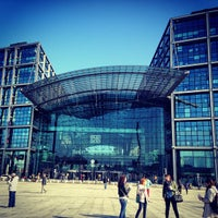 Photo taken at Berlin Central Station by Anastasia L. on 5/1/2013