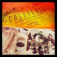 Photo taken at Churreria Spanish Chocolateria by Emilya I. on 11/1/2012