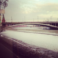 Photo taken at Bolshoy Kamenny Bridge by Ksu M. on 2/15/2013
