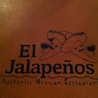Photo taken at El Jalapeños Authentic Mexican Restaurant by Jurrell P. on 11/24/2012