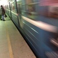Photo taken at metro Elektrosila by  Aleksey V. on 10/25/2012