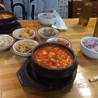 Photo taken at Myung-dong Soft Tofu House Korean Restaurant by Rebecca Y. on 11/16/2013