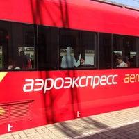 Photo taken at Aeroexpress Terminal at Belorusski Railway Station by Евгений Х. on 5/14/2013
