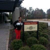 Photo taken at Jamestowne Visitor Center by Rachel S. on 1/11/2013