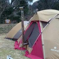 Photo taken at 三日月の滝温泉 キャンプ場 by Yoshiharu M. on 12/30/2013