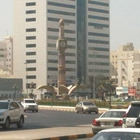 Photo taken at Sharjah Clock Tower by Ärës R. on 10/27/2012