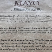 Photo taken at Mayo Family Winery by Andy L. on 3/15/2017