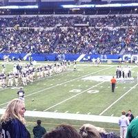 Photo taken at IHSAA state football Championsips by Jessie K. on 11/30/2013
