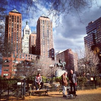 Photo taken at Union Square Dog Run by Vici V. on 3/29/2013