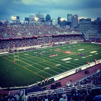Photo taken at Percival Molson Memorial Stadium by Guillaume B. on 7/5/2013