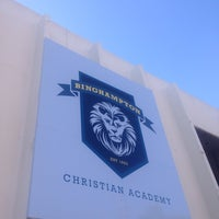 Photo taken at Binghampton Christian Academy by Robb R. on 3/20/2014