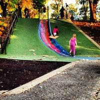 Photo taken at Frick Park Blue Slide Playground by Brandon T. on 10/3/2012