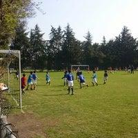 Photo taken at Pumitas C.U., Futbol A.C. by Fe R Ma F. on 4/20/2013