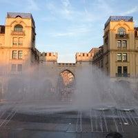 Photo taken at Karlsplatz (Stachus) by The Duke O. on 7/20/2013