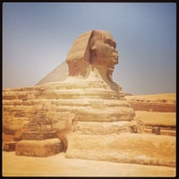 Photo taken at Great Sphinx of Giza by Maria F. on 5/5/2013