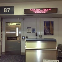 Photo taken at Terminal B by Deivid S. on 1/22/2013