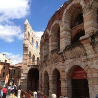 Photo taken at Arena di Verona by Marina C. on 5/11/2013