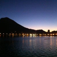 Photo taken at Lagoa Rodrigo de Freitas by Daniel T. on 5/9/2013