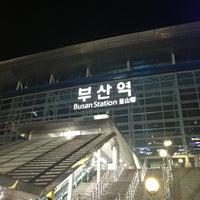 Photo taken at Busan Stn. - KTX/Korail by Kenny L. on 3/29/2013