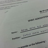 Photo taken at Spirit Aerosystems Malaysia Sdn. Bhd by Adam S. on 7/9/2015