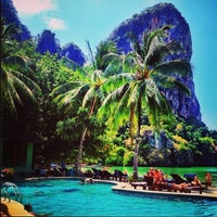 Photo taken at Railay Beach West by Warocha S. on 2/14/2013