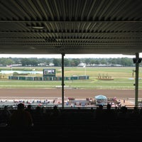 Photo taken at Monmouth Park Racetrack by Olivia on 7/28/2013