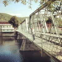 Photo taken at Shelburne Falls, MA by Dan D. on 9/22/2012