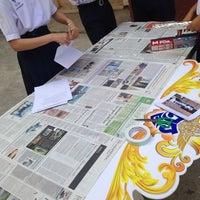 Photo taken at หอประชุมโรงเรียนฤทธิยะวรรณาลัย 2 by Atikom P. on 2/10/2014