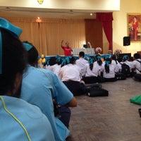 Photo taken at หอประชุมโรงเรียนฤทธิยะวรรณาลัย 2 by Atikom P. on 11/29/2013