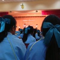 Photo taken at หอประชุมโรงเรียนฤทธิยะวรรณาลัย 2 by Atikom P. on 9/6/2013