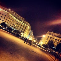 Photo taken at Aristotelous Square by Efth. 😈 P. on 3/1/2013