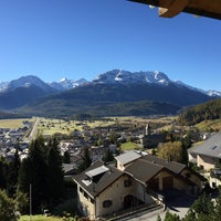 Photo taken at Samedan by Dominic H. on 10/16/2016