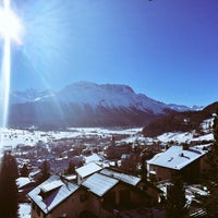 Photo taken at Samedan by Dominic H. on 1/20/2016