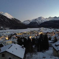Photo taken at Samedan by Dominic H. on 1/22/2016