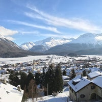 Photo taken at Samedan by Dominic H. on 2/9/2017