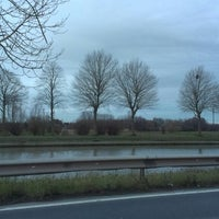 Photo taken at Kanaal Roeselare - Ooigem by Jens L. on 2/18/2014